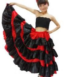 spanish costume girl long red flamenco style dress With robe espagnol
