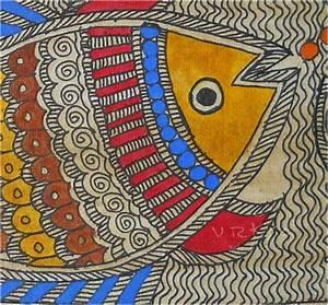 vrksa arts & crafts: Fish - madhubani indian traditional art