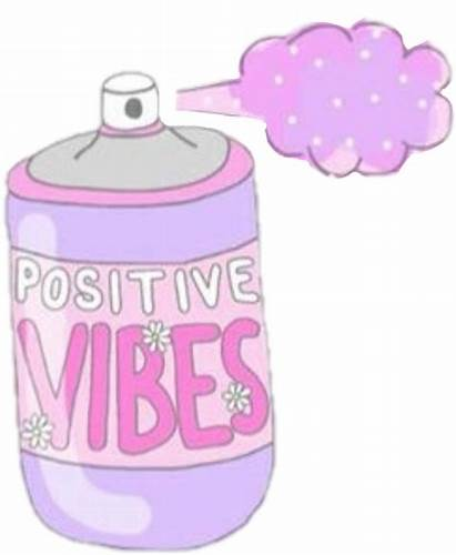 Vibes Stickers Pastel Positive Transparent Spray Quotes