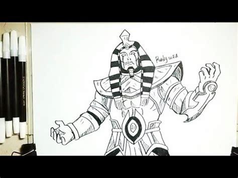menggambar roger skin anubis hero mobile legends