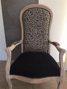 Fauteuil Crapaud Noir : fauteuil voltaire noir et cru bois blanchi pinteres ~ Preciouscoupons.com Idées de Décoration