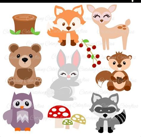 Baby Woodland Animal Cut Files, Forest Animal Svg Files