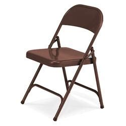 virco 162 folding chairs mocha brown metal folding chairs