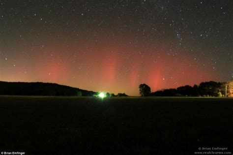 northern lights seen as far south as alabama due to freak