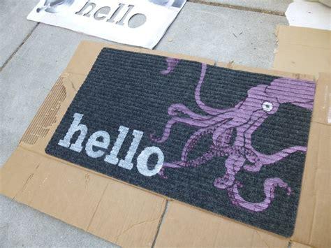 Make A Doormat by Stencil Doormats 183 How To Make A Door Mat 183 Computer