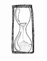 Hourglass Coloring Template Pages Printable Print Templates sketch template