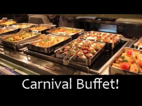 carnival cruise food mexican buffet night youtube