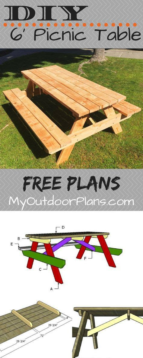 plans  building   foot picnic table  table