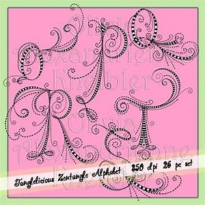 Tanglelicious Zentangle Alphabet - UC | Dangles ...