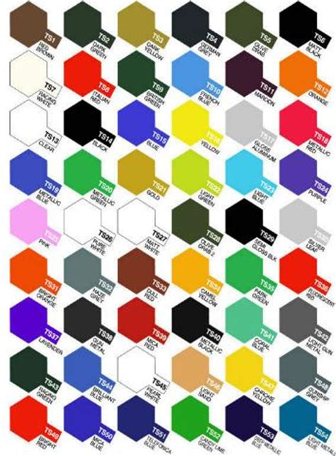 tamiya color chart spray coloringsite co