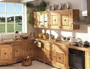 Meuble Cuisine Bois Naturel : porte de cuisine en bois brut le bois chez vous ~ Teatrodelosmanantiales.com Idées de Décoration