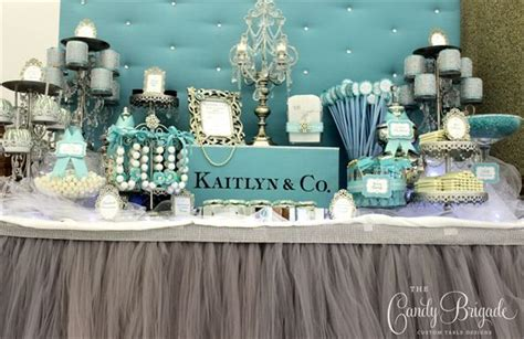 tiffany buffet table ls 17 best images about tiffany candy table sweet sixteen