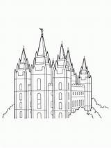 Temple Salt Lake Lds Coloring Primary Drawing Line Utah Template Temples Outline Clipart Mormon Printable Sketch Vector Unique Sheets Library sketch template