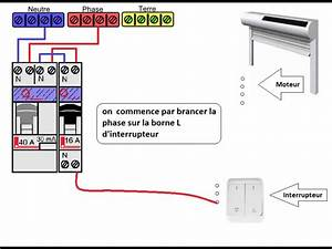 Branchement Volet électrique : schema electrique d 39 un volet roulant electrique youtube ~ Melissatoandfro.com Idées de Décoration