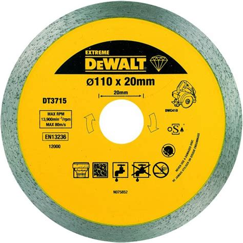 taglierina per piastrelle dewalt dt3715 qz disco a corona continua per taglierina