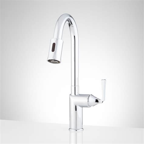 touchless faucets kitchen mullinax single hole touchless kitchen faucet kitchen