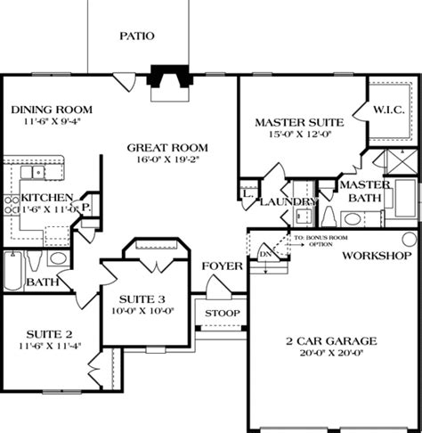 Craftsman Style House Plan 3 Beds 2 00 Baths 1400 Sq/Ft