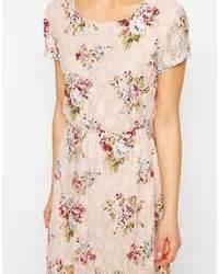 closet scuba midi skater dress in floral print where to