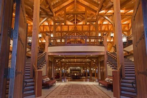 incredible barn mansion  wood  stone  utah digsdigs