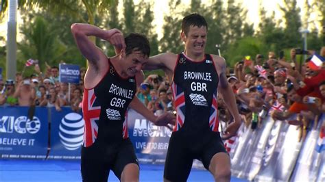 With just metres to go before the line, world triathlon champion contender following an appeal by the spanish triathlon federation to disqualify jonathan brownlee for accepting assistance from alistair brownlee to. Jonny Brownlee helped over finish by brother Alistair in ...