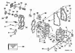 Evinrude 1997 40 - Se40rpyb  Cylinder  U0026 Crankcase