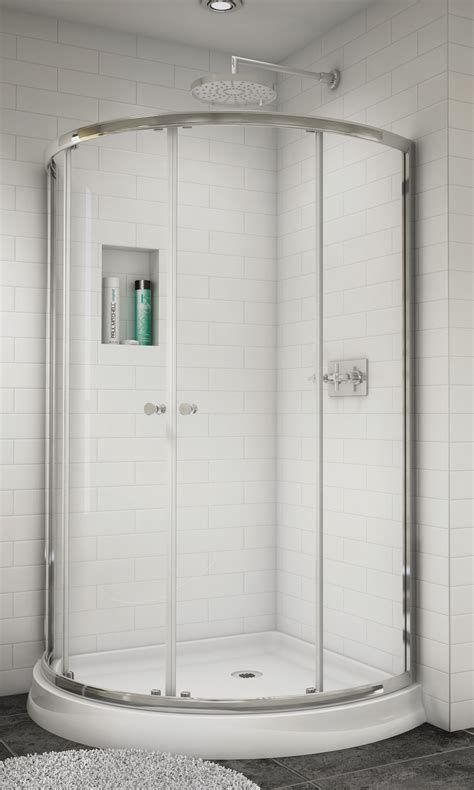 Curved Shower Door by Shower Enclosures Sliding Shower Doors