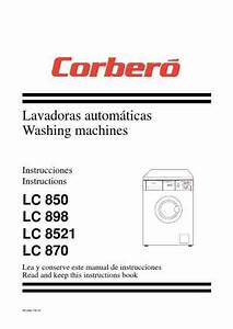 Corbero Lc898 Washing Machine Download Manual For Free Now