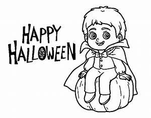 Dessin Halloween Vampire : coloriage de vampire pour halloween pour colorier ~ Carolinahurricanesstore.com Idées de Décoration