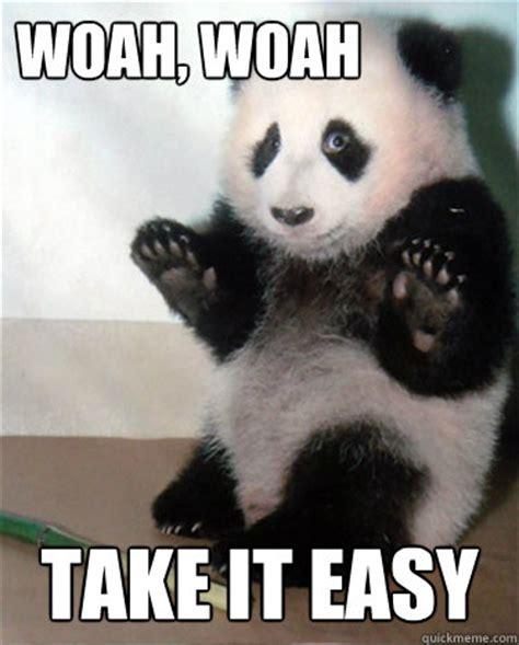 Easy Meme - panda take it easy memes quickmeme