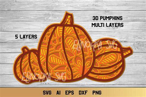 Home/free svg files, home/free pumpkin svg file. 3D Layered Pumpkin SVG   Fall Multi Layer  Autumn Cut File ...