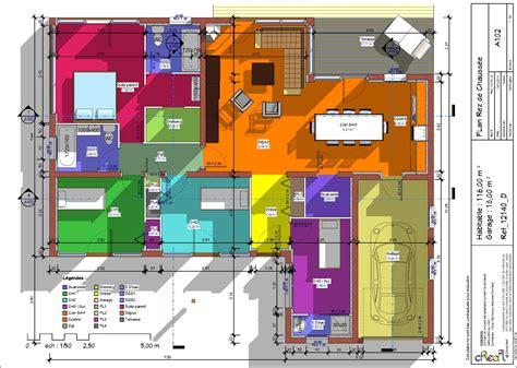 maison avec 4 chambres plan maison plain pied 4 chambres avec suite parentale