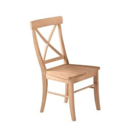 international concepts unfinished wood x back dining chair