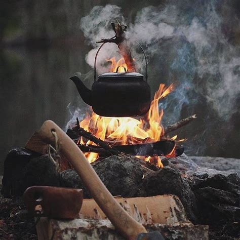 open fire cookware camping campfire camp guide tural