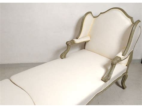 chaise louis 15 deck chair louis xv carved lacquered wood duchess broken