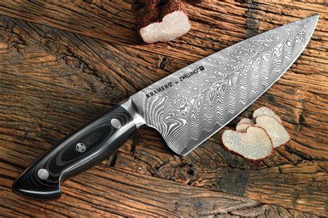 bob kramer damascus knife set  piece  block  zwilling cutlery