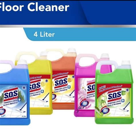 SOS FLOOR CLEANER (PEMBERSIH LANTAI) 4 LITER | Shopee ...