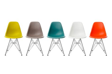 chaises design blanche vitra eames plastic side chair dsr by charles eames