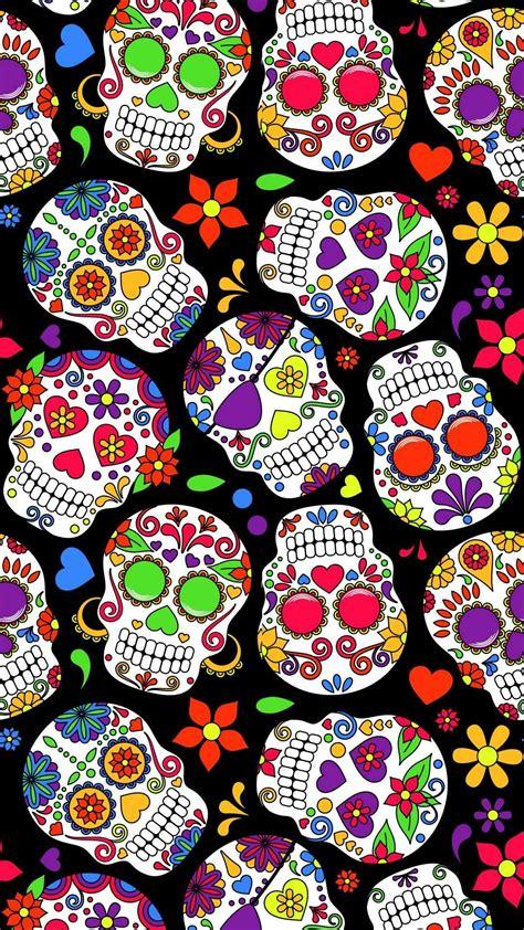 skull wallpaper skull pillow sugar skull day   dead