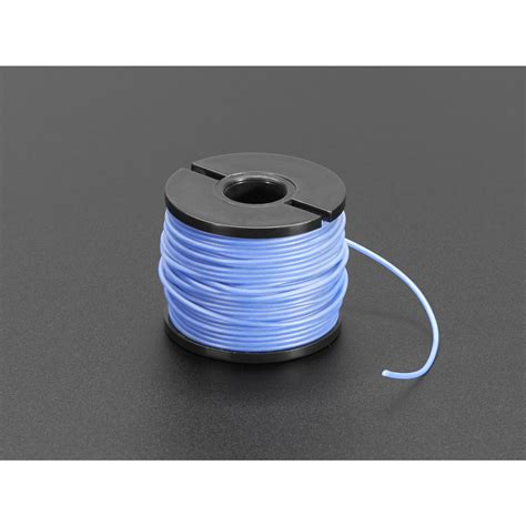 silicone cover stranded core wire 50ft 30awg blue