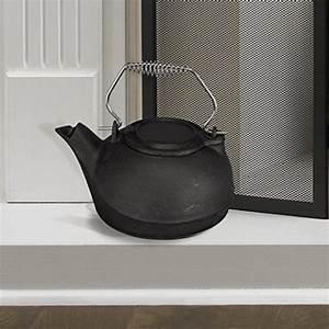 Fireplace Kettle Humidifier Cast Iron Pot Steamer 3 Quart ...