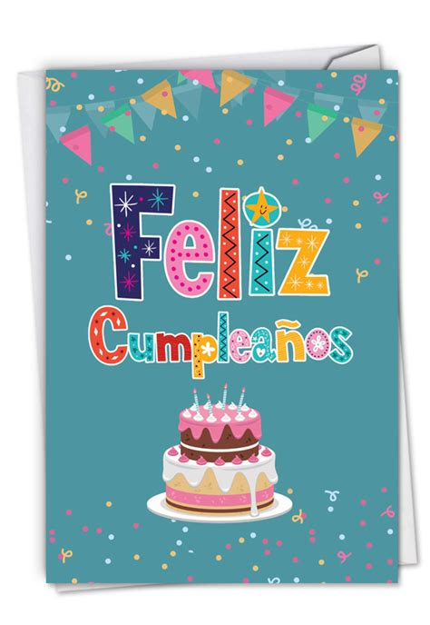 NobleWorks Feliz Cumpleaños Spanish Birthday Card