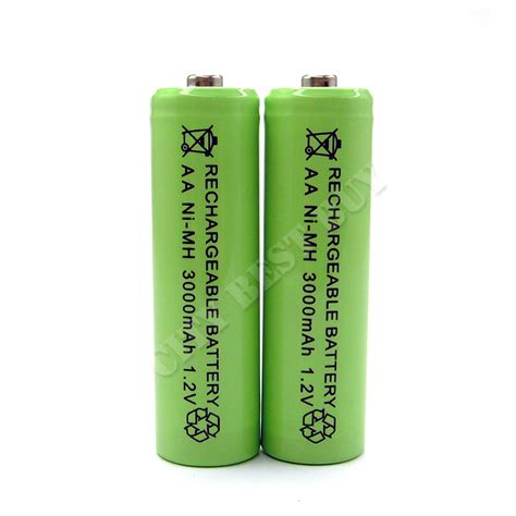 2 aa 2a 3000mah nimh rechargeable battery solar light ebay