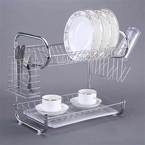 cheap factory wholesale dishes  plate display rack kitchen stainless steel storage rack buy