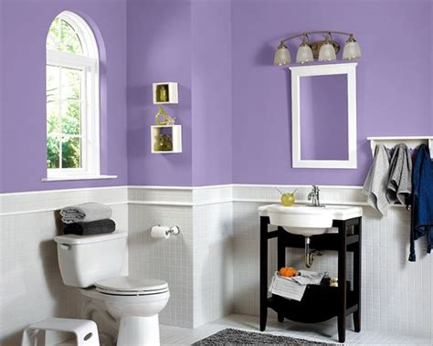 Purple Paint Colors For Bathrooms by Purple White Bathroom Sherwin Williams Paint Color Sw