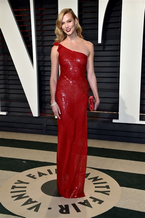 Karlie Kloss Red Sequins The Most Fabulous Dresses