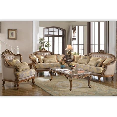 formal antique sofa loveset chair 3pc traditional light