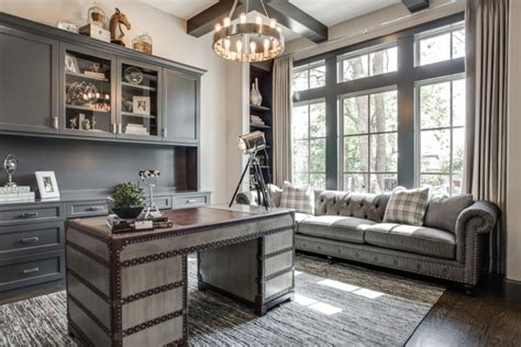 21+ Gray Home Office Designs, Decorating Ideas | Design