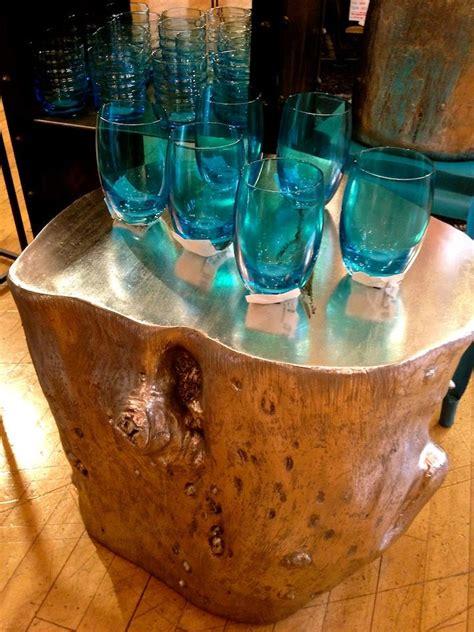 painted tree stump side table funky furniture stump