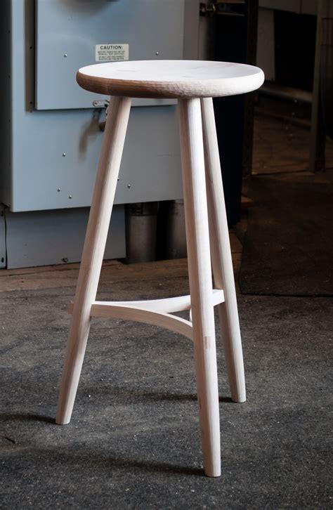 legged stool  curved stretchers big sand woodworking