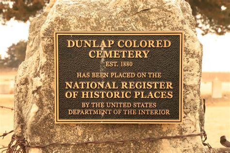 LandmarkHunter com Dunlap Colored Cemetery